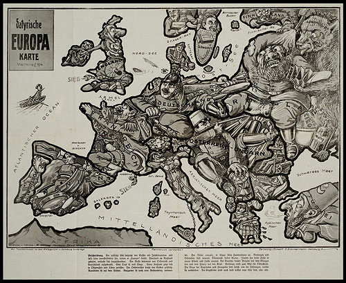 Satirical maps booooooom create inspire community art its really cool to see political cartoons from nearly 100 years ago gumiabroncs Choice Image