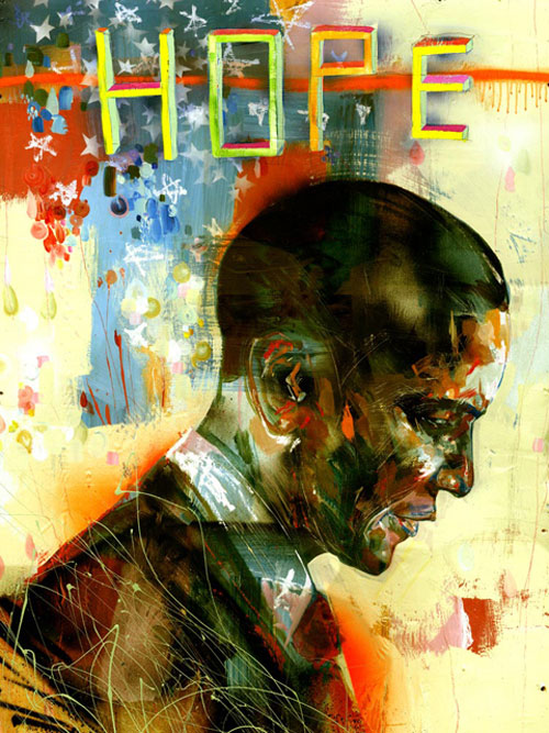 david choe obama art poster design graphic