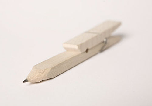 bartosz mucha design clothes pin beech wood