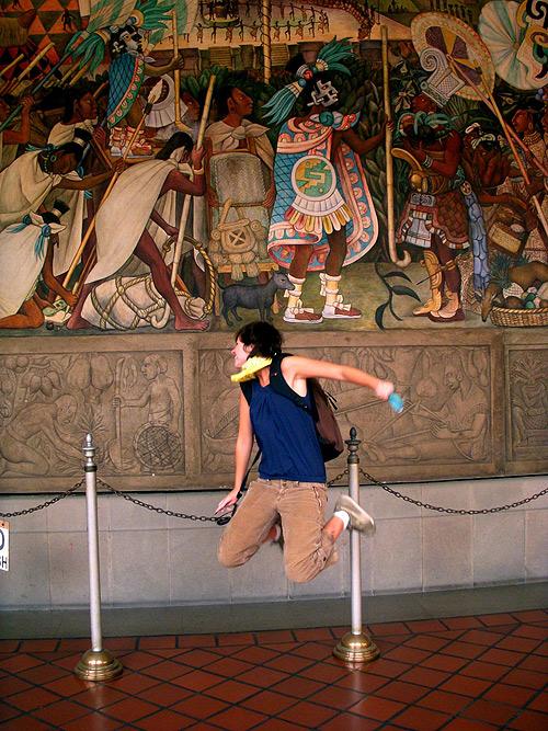 jumping in art museums galleries allison reimus