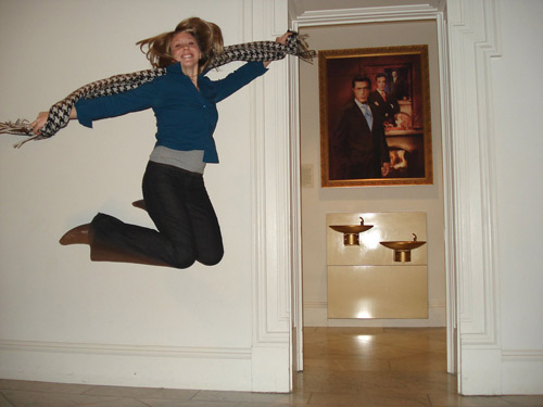jumping in art museums galleries allison reimus