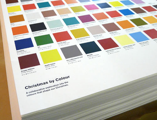 christmas by colour calm