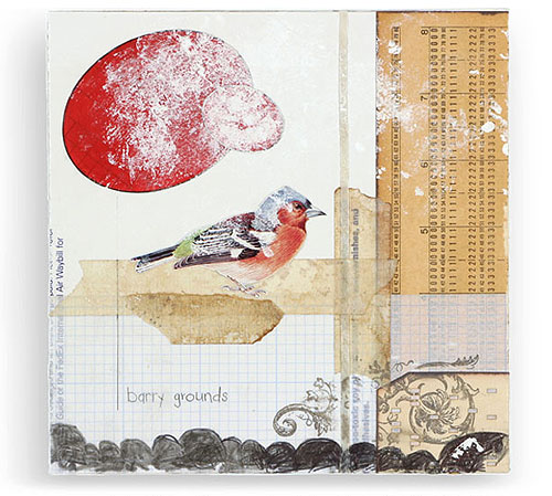 mary emma hawthorne collage paper illustration