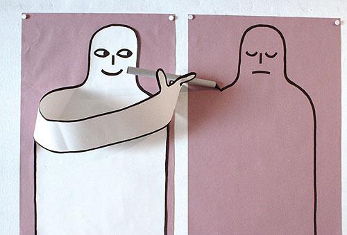 jean jullien art artist paper design designer