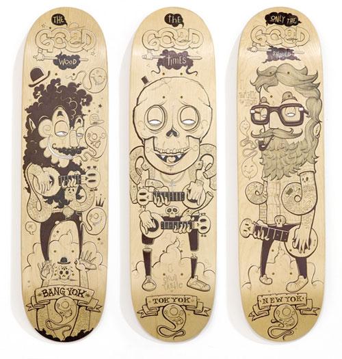 no comply australia artshow skateboard