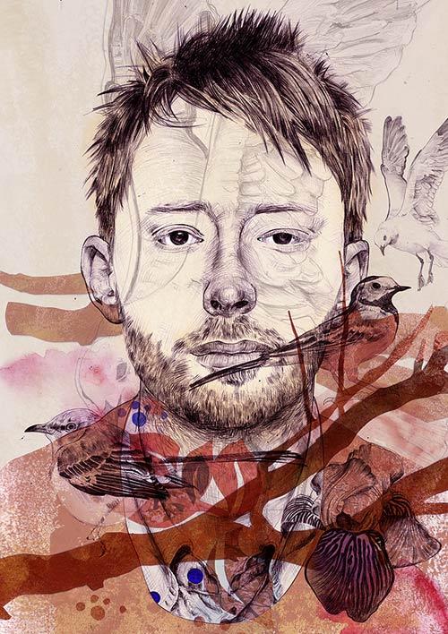 booooooom stefan venbroek illustration illustrator thom yorke