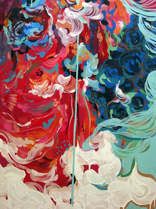 stephanie toppin painting drip abstract