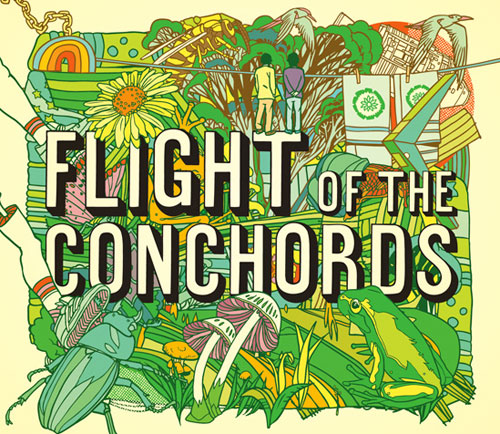 tyler stout flight of the conchords poster art illustrator illustration