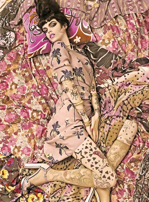 vogue steven meisel patterns fashion photography