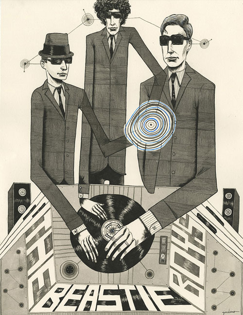 beastie boys art painting illustration photo