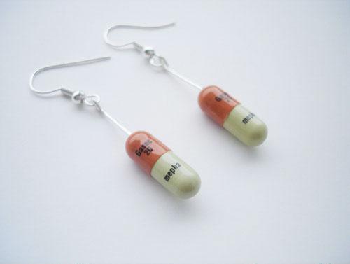 magic pills the drugstore ear rings