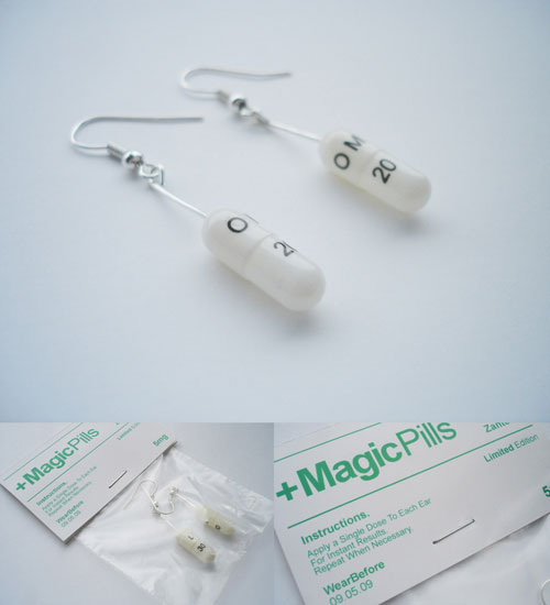 magic pills the drugstore ear rings