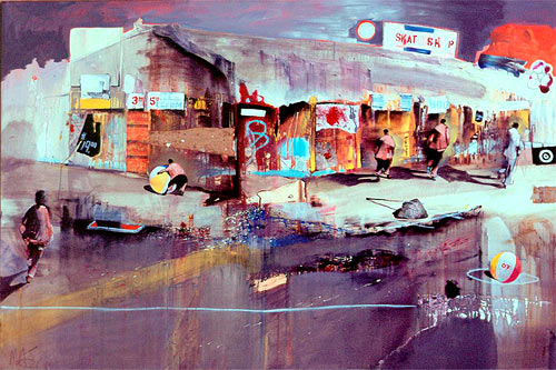 marcus jansen painting painter oil collage