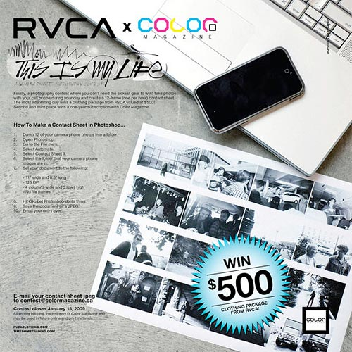 rvca color magazine timebomb trading
