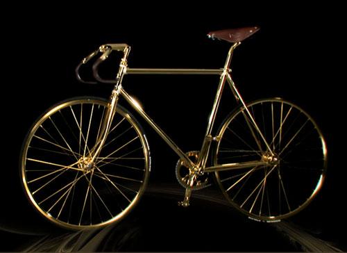 24k Gold Fixed Gear Bicycle Booooooom Create
