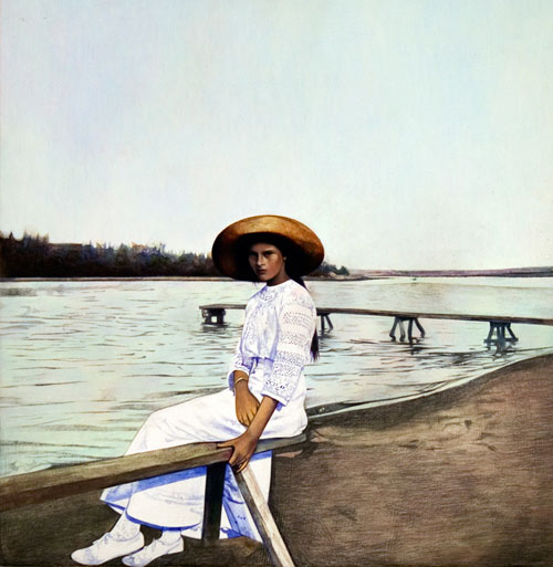 becca mann found photographs russia painting painter artist