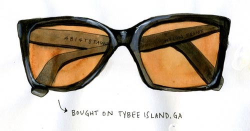 courtney reagor illustration sunglasses raised on sandwiches booooooom