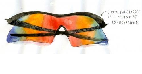 courtney reagor illustration sunglasses raised on sandwiches booooooom