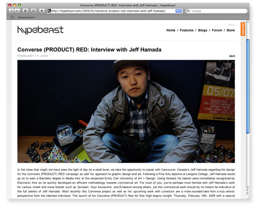 jeff hamada hypebeast interview feature