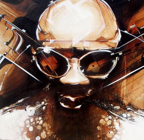 kofie grafitti street art illustration mixed media painting