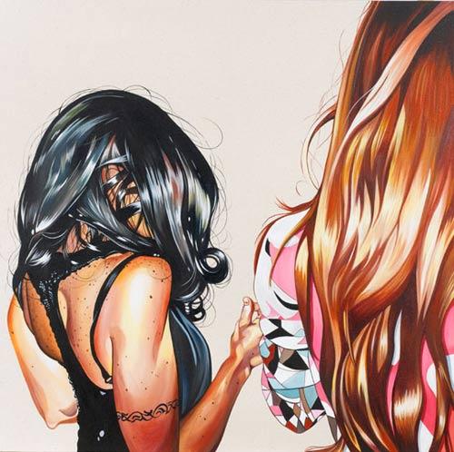 leah tinari acrylic gouache painter painting