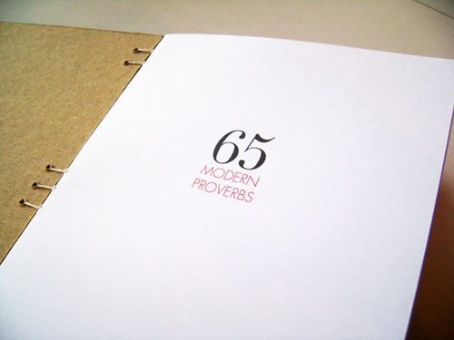 nikki farquharson graphic design 65 modern proverbs book