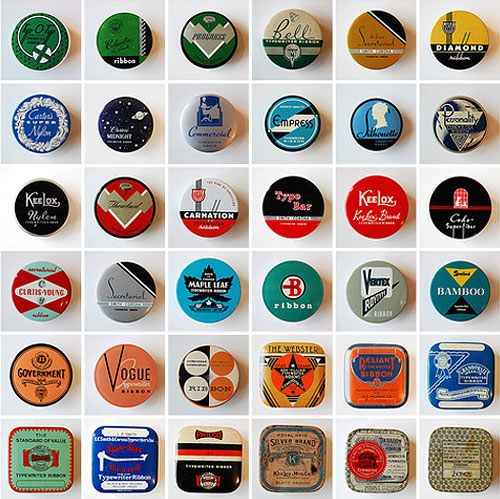 typewriter vintage ribbon tin collection uppercase