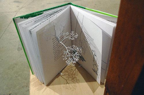 yuken teruya book page cut out flower