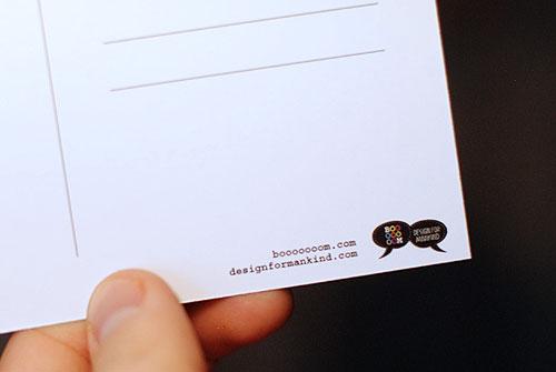 booooooom design for mankind free encouragement project postcard