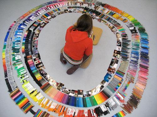 brooke inman artist drawing everything color circle