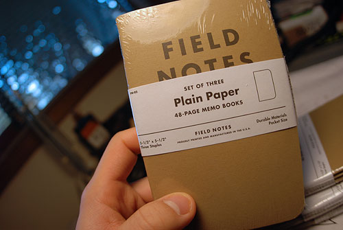 coudal field notes notebook sketchbook idea