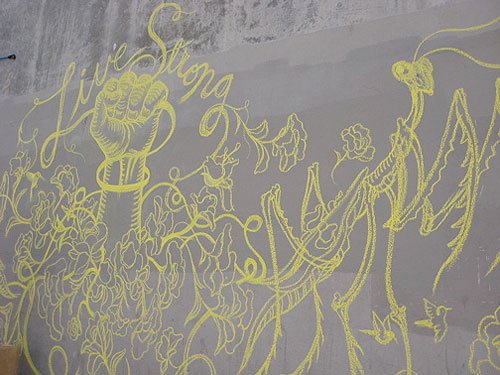 james jean lance armstrong livestrong art campaign chalk