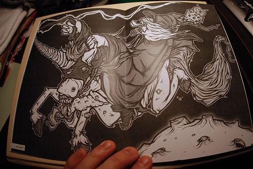 the wizards hat issue 3 jeffrey bowman andy j miller zine illustration illustrator