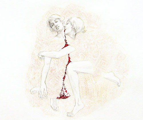 brieana ruais drawings embroidery