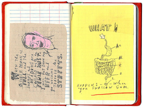 david fullarton notebook drawing mixed media painting journal