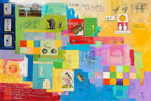 david fullarton notebook drawing mixed media painting journal