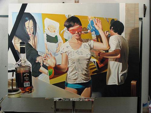diego gravinese painting painter photo realism