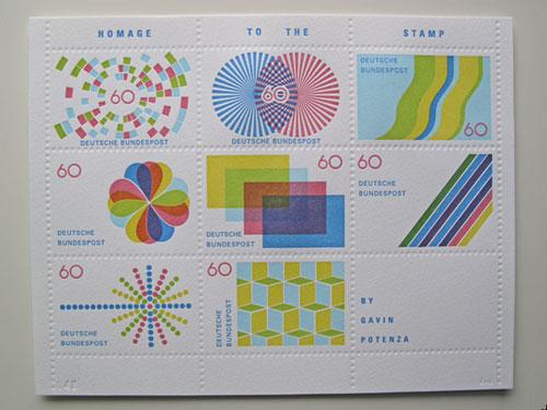stamp design Gavin Potenza graphic