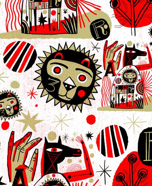 nate williams hand drawn tiling twitter wallpaper