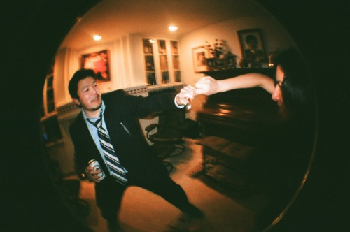 wine and cheese lomo fisheye party