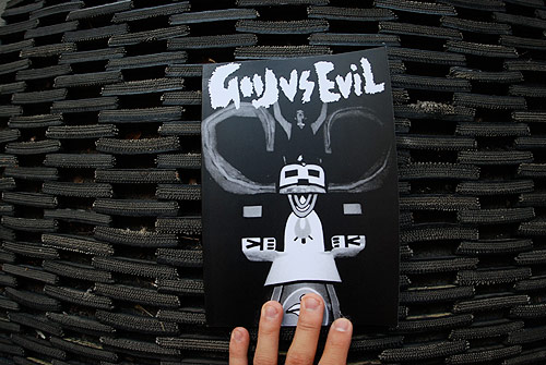 good vs evil magazine art drawing