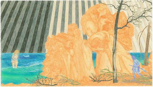 michael krueger drawing artist kansas lawrence