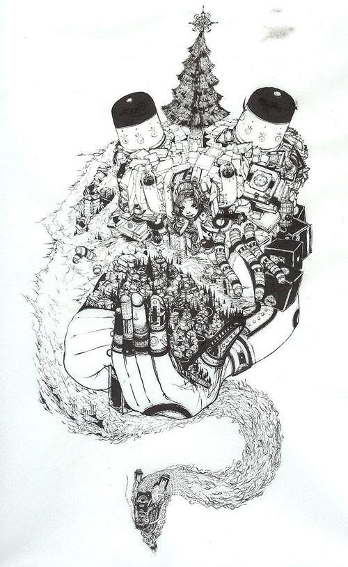 scott kennedy aged acorn butter oak drawing artist