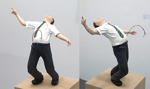 thomas broome sculpture man shot from behind artist