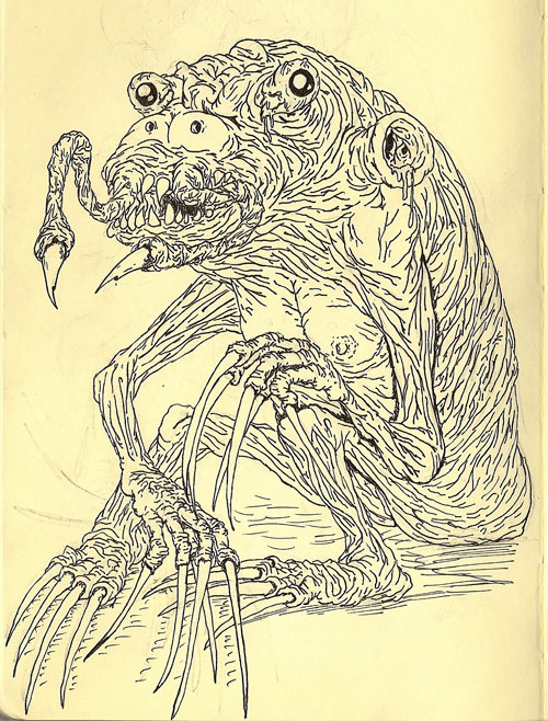 devin renshaw super crazy monsters drawings