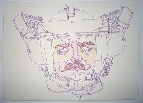san francisco amos goldbaum drawing artist art