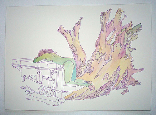 san francisco amos goldbaum drawing artist art