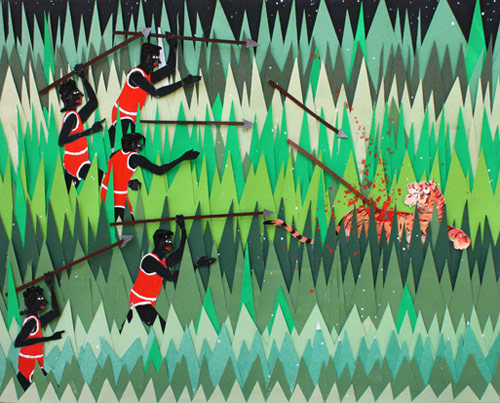 devin troy strother artist painting painter cut paper
