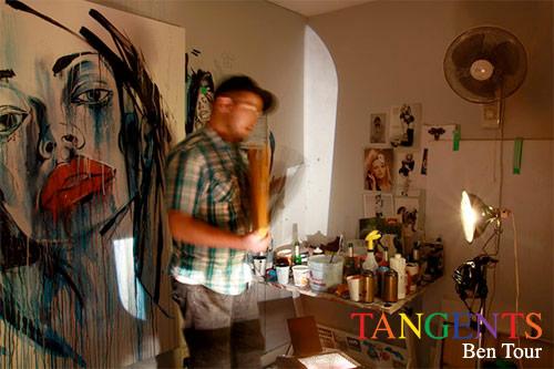 ben tour tangents art show vancouver booooooom