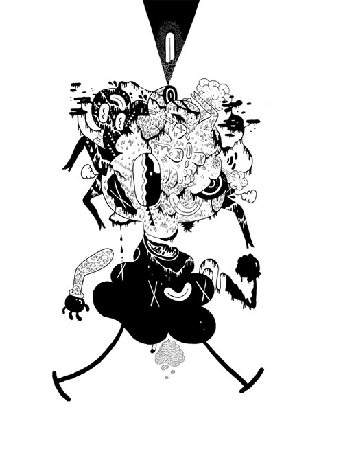 Illustrator Michael DeForge King Trash drawing